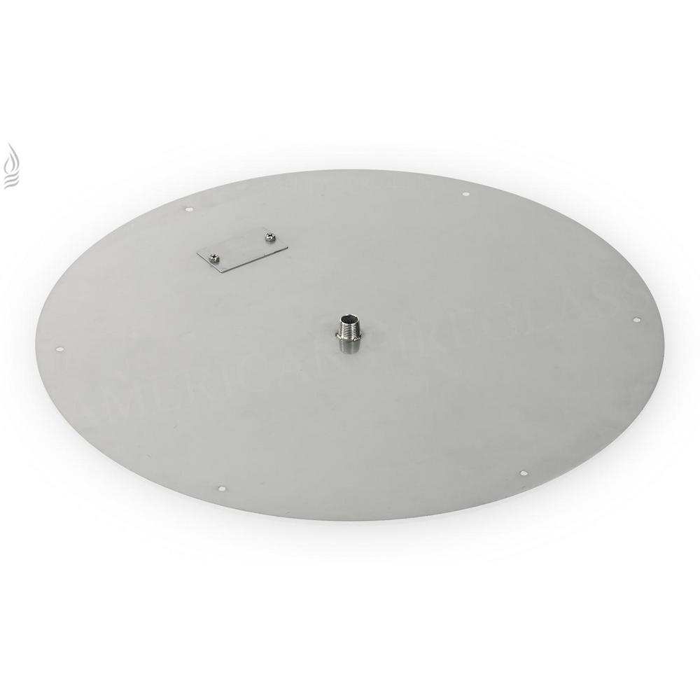American Fire Glass 24 in. Round Stainless Steel Flat Fire Pit Pan (Fire Pit Ring NOT Included)