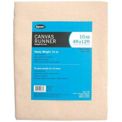 3 ft. 9 in. x 11 ft. 9 in., 10 oz. Canvas Drop Cloth Runner
