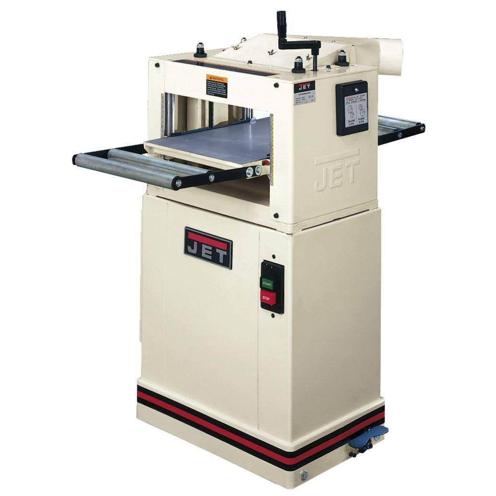 JET 115/230-Volt JPM-13CS 1.5 HP 13 in. Woodworking CS Planer and Molder Combination Machine with Closed Stand