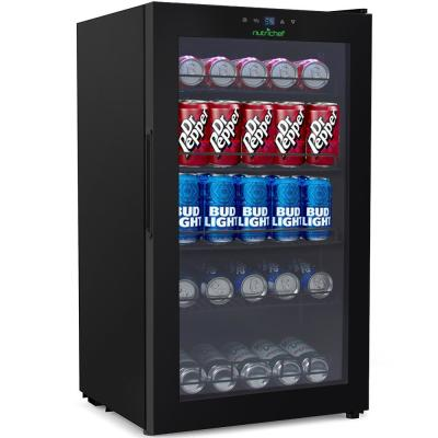 132-Can Capacity Compact Beverage Fridge Cooler - Can Beverage Chiller Refrigerator