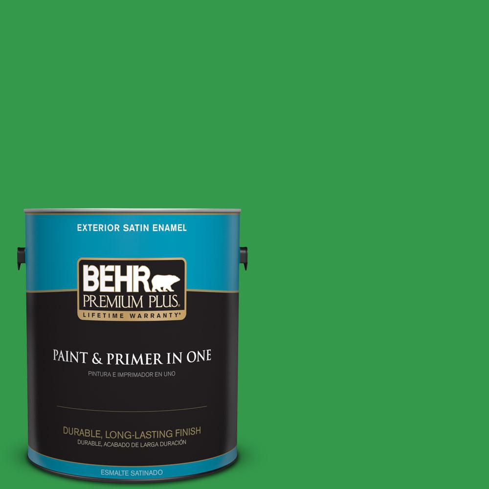 1-gal. #450B-6 Formal Garden Satin Enamel Exterior Paint