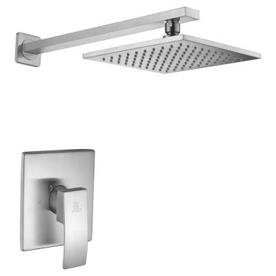 Viace Single-Handle 1-Spray Shower Faucet in Brushed Nickel (Valve Included)