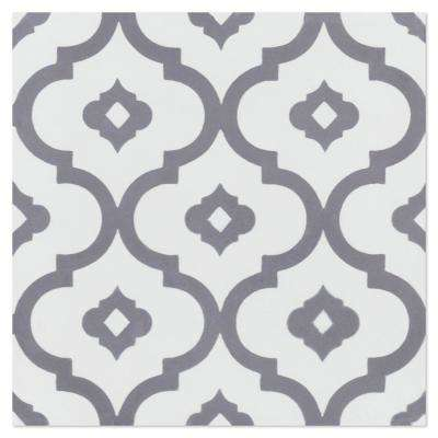 Kasbah Excalibur 7-7/8 in. x 7-7/8 in. Cement Handmade Floor and Wall Tile