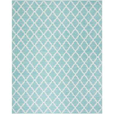 Montauk Teal/Ivory 8 ft. x 10 ft. Area Rug