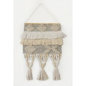 Fringed Bohemian Neutral Ivory / Natural Tasseled Wall Tapestry