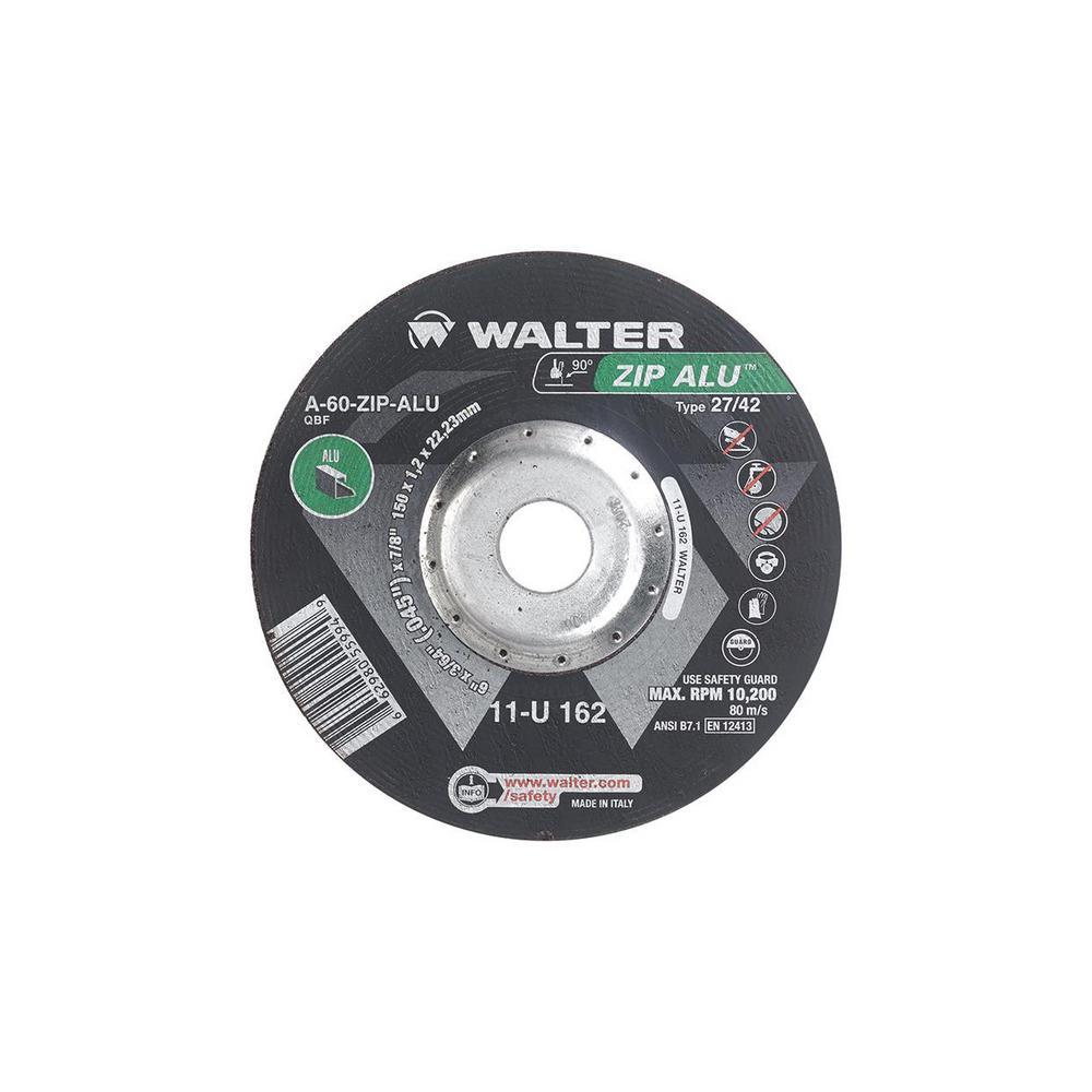 ZIP ALU 6 in. x 7/8 in. Arbor x 3/64 in. T27 Cutting Wheel for Aluminum (25-Pack)