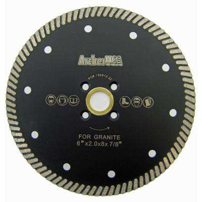 6 in. Narrow Turbo Diamond Blade for Granite Cutting