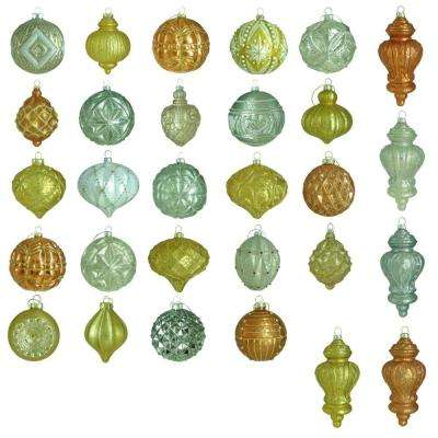 Holiday Shimmer Glass Ornament Set (50-Count)