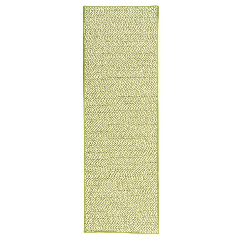 Home Decorators Collection Sadie Lime 2 Ft X 12 Ft Indoor Outdoor Braided Runner Ot69r024x144s