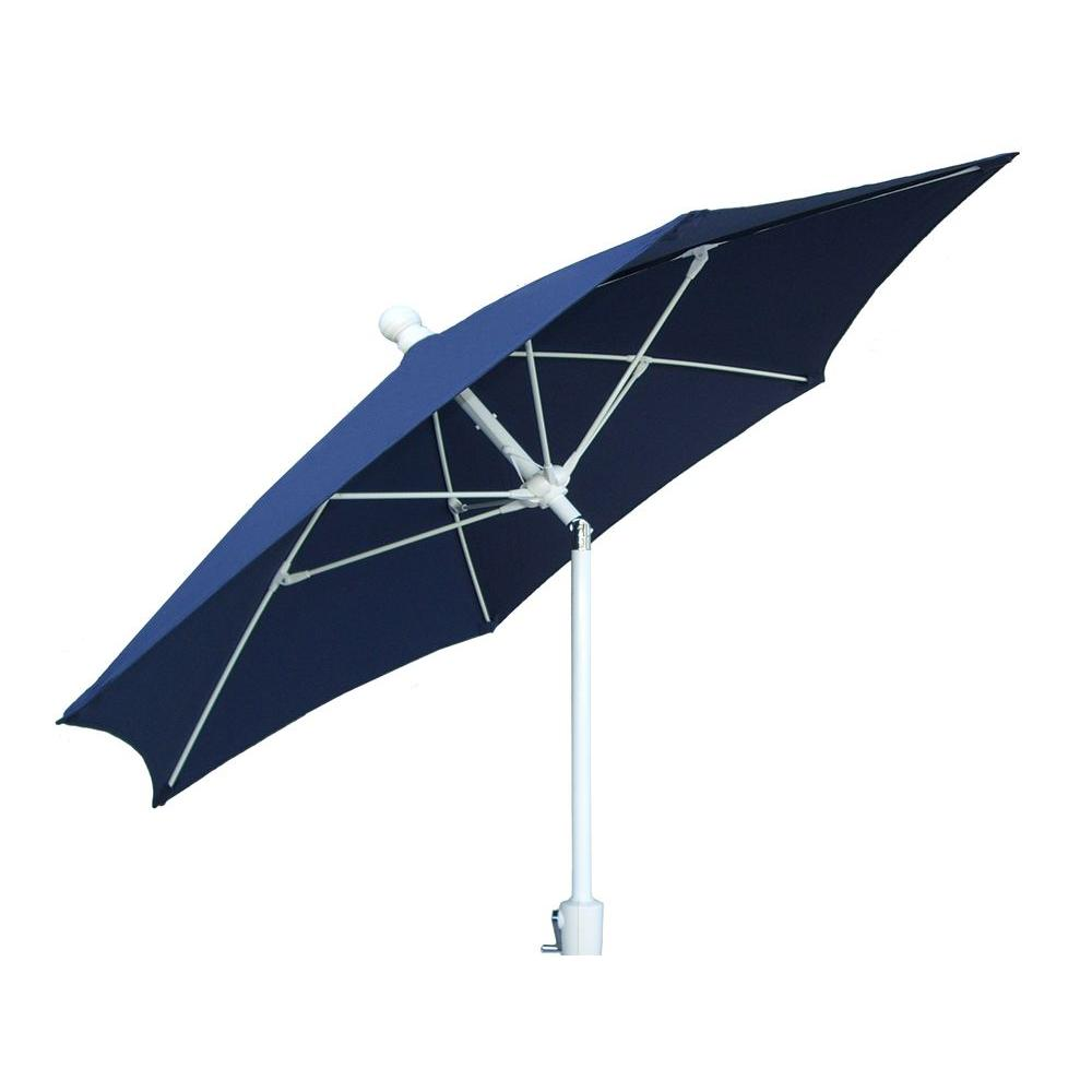 Superb Fiberbuilt Umbrellas 9 Ft. Patio Umbrella In Navy Blue