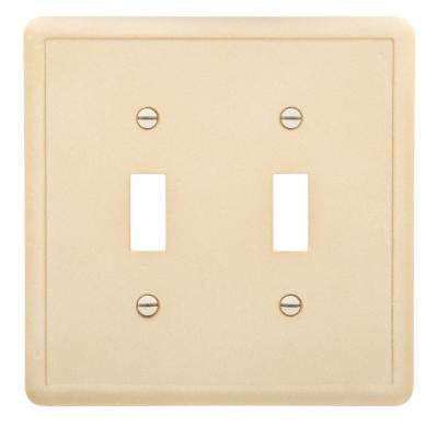 2-Toggle Wall Plate, Travertine