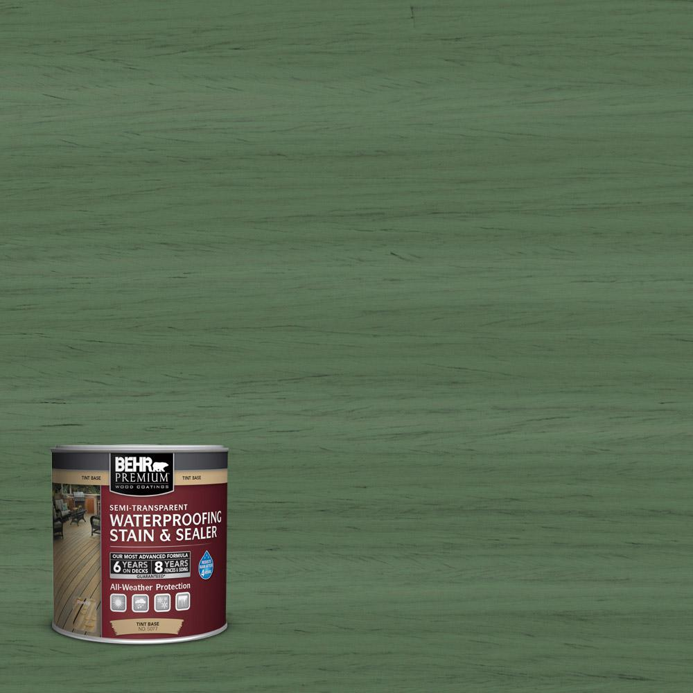 8 oz. #ST-126 Woodland Green Semi-Transparent Waterproofing Stain and Sealer