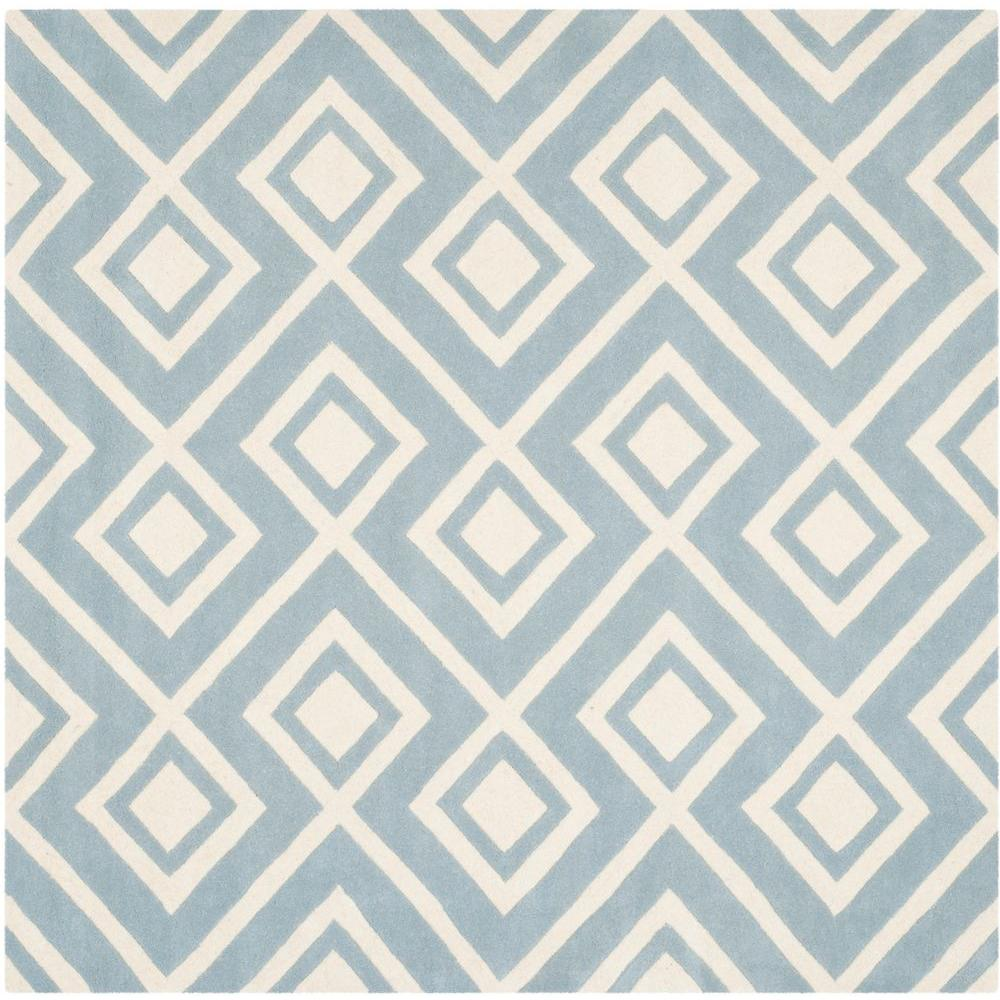 Chatham Blue/Ivory 7 ft. x 7 ft. Square Area Rug