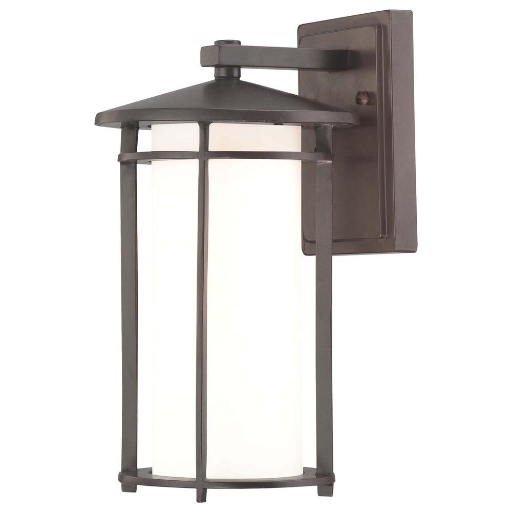 Addison Park 1-Light Dorian Bronze Outdoor Wall Mount Lantern