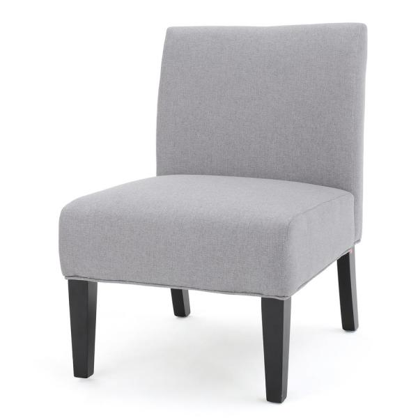 Noble House Galilea Light Grey Fabric Accent Chair 299756