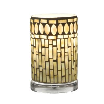 6.75 in. Clear Accent Lamp with Mosaic Art Glass