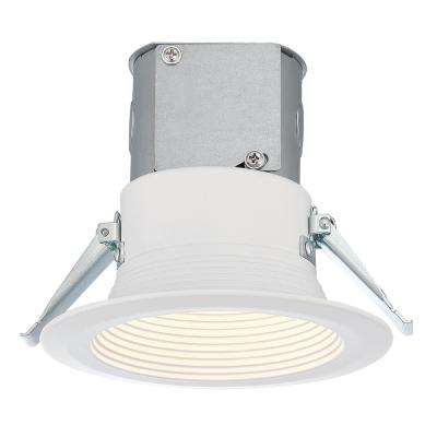 Easy-Up 4 in. White Baffle Recessed Integrated LED Kit at 93.4 CRI, 3000K, 618 Lumens