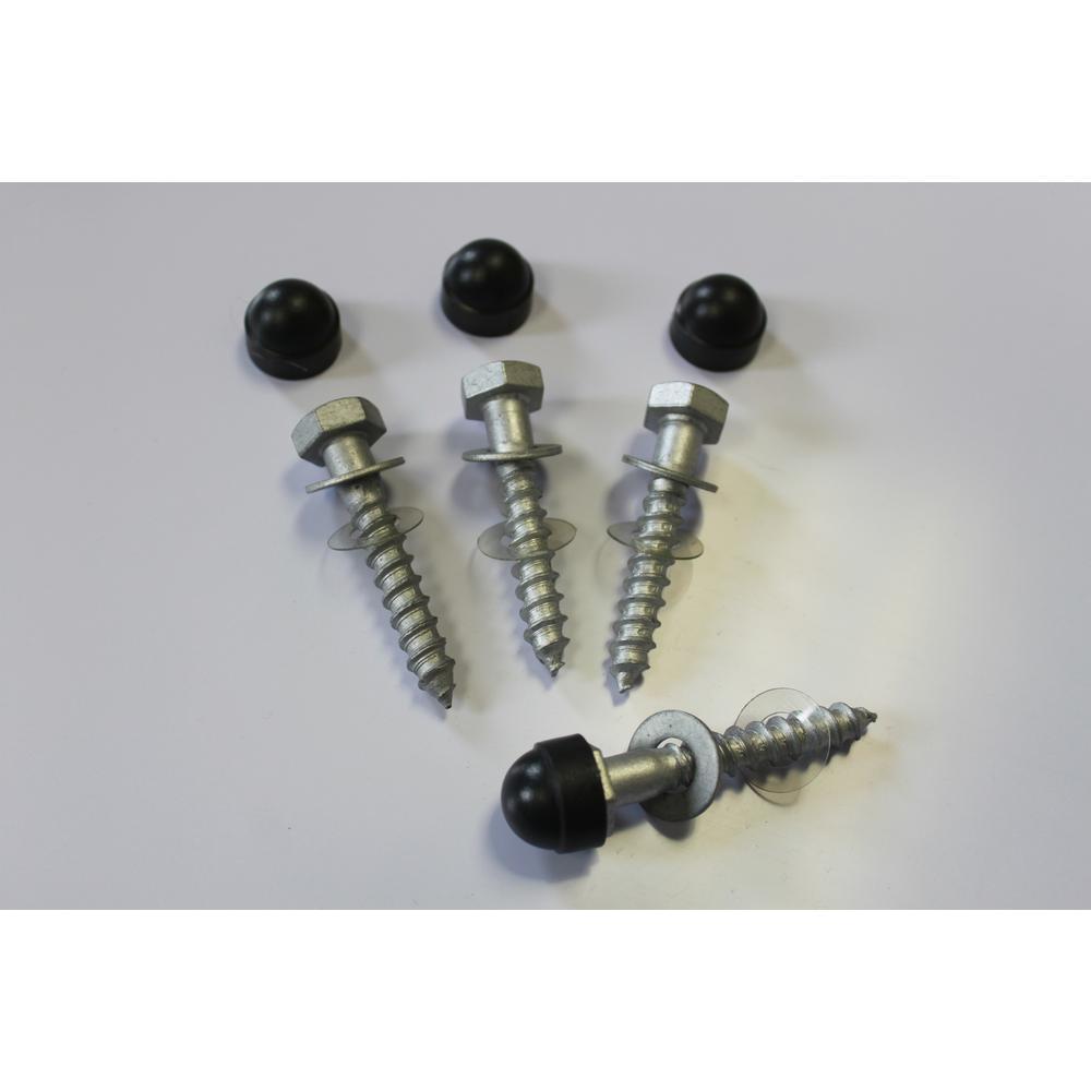Prova PA22b Galvanized Steel Hex Screw Post Anchors (4-Piece)