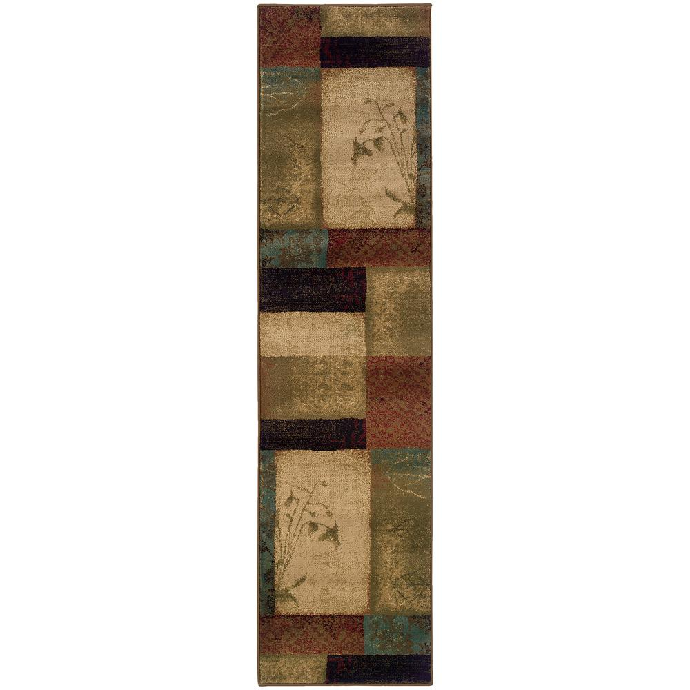 Home Decorators Collection Hillsborough Multi 2 Ft X 8 Ft Runner Rug 7034910910 The Home Depot