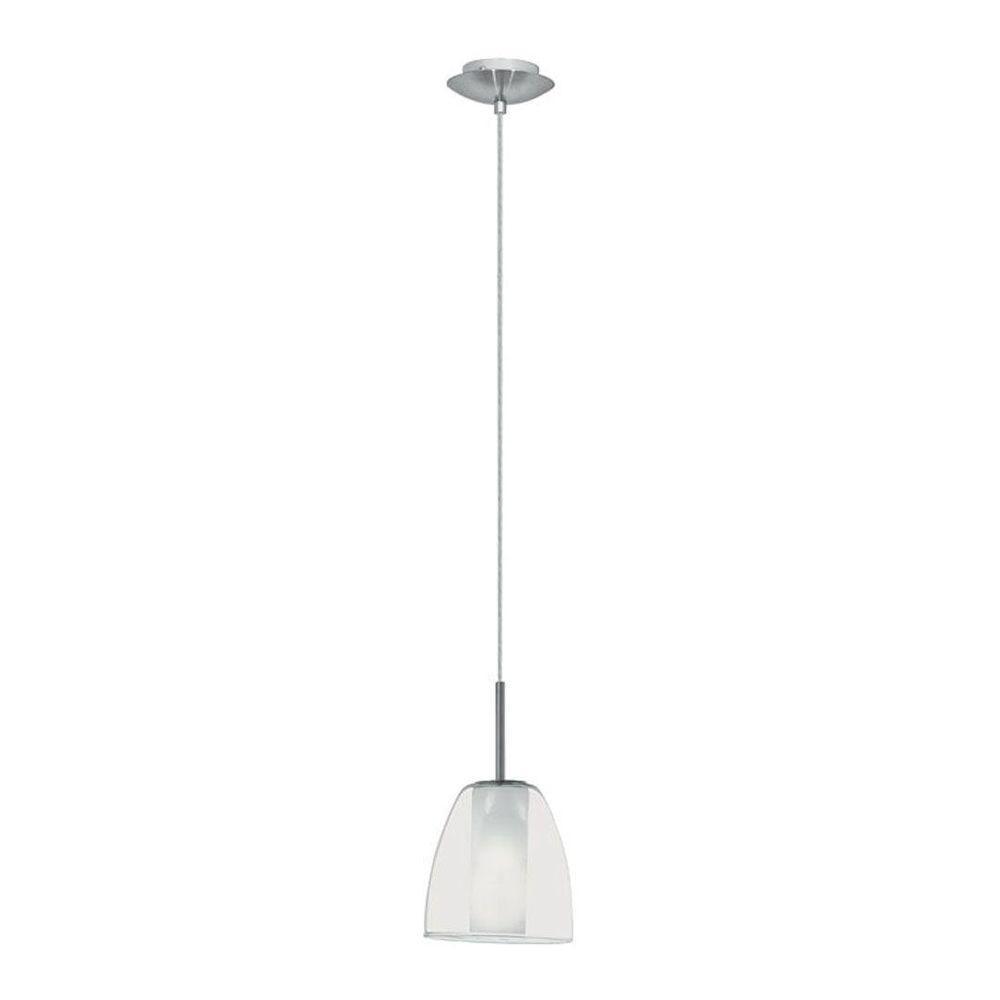 Eglo Olbia 1-Light 40-Watt Matte Nickel Mini Pendant