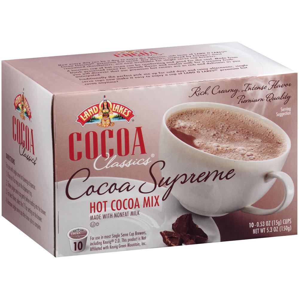 cocoa classics supreme chocolate hot cocoa 60 single serve cups per case