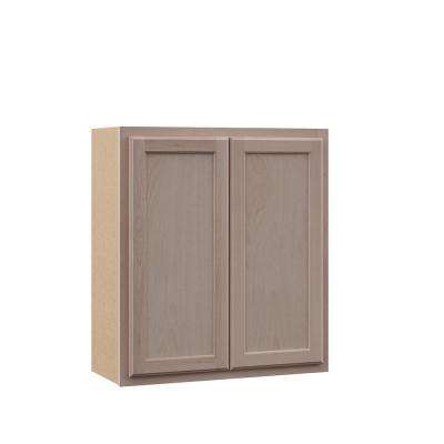 Hampton Assembled 27x30x12 in. Wall Cabinet in Unfinished Beech