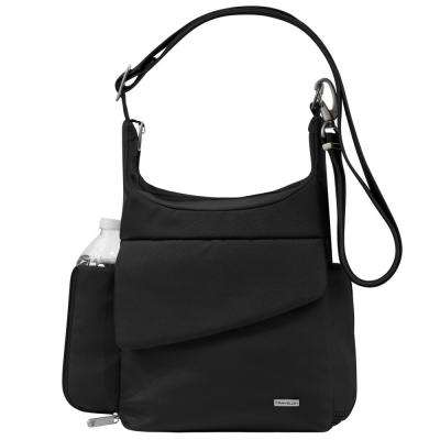 Anti-Theft Black Poly Messenger Bag