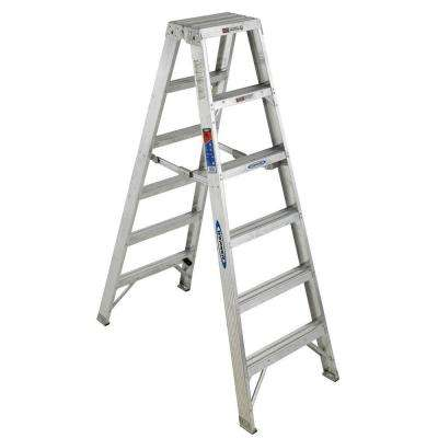 6 ft. Aluminum Twin Step Ladder with 300 lb. Load Capacity Type IA