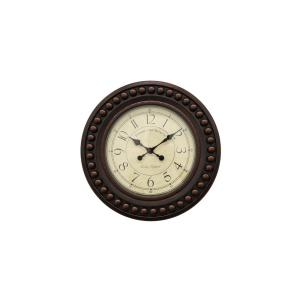 THREE HANDS Brown Wall Clock by THREE HANDS