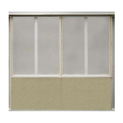 20 sq. ft. Angora Fabric Covered Bottom Kit Wall Panel