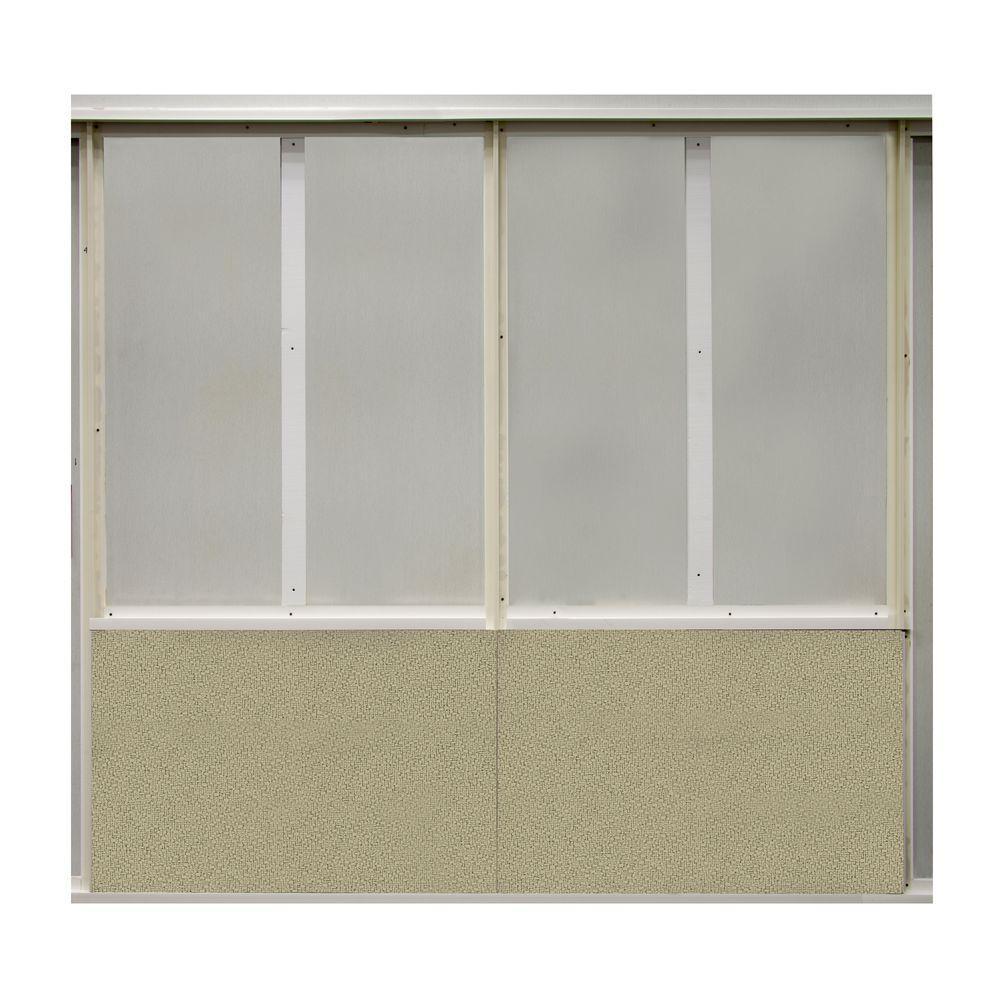 20 sq. ft. Angora Fabric Covered Bottom Kit Wall Panel