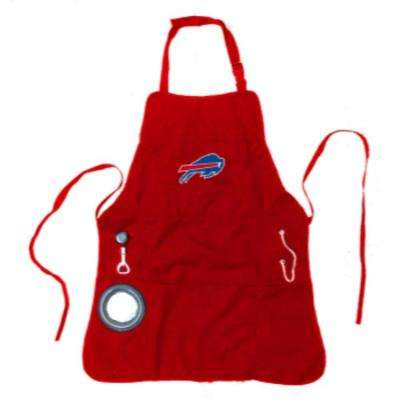 Buffalo Bills NFL 24 in. x 31 in. Cotton Canvas 5-Pocket Grilling Apron with Bottle Holder