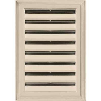 12 in. x 18 in. Rectangle Gable Vent #049 Almond