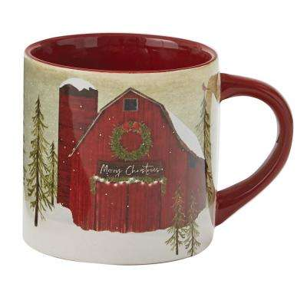 Vintage Hometown Multicolor Ceramic Coffee Mug (Set of 4)