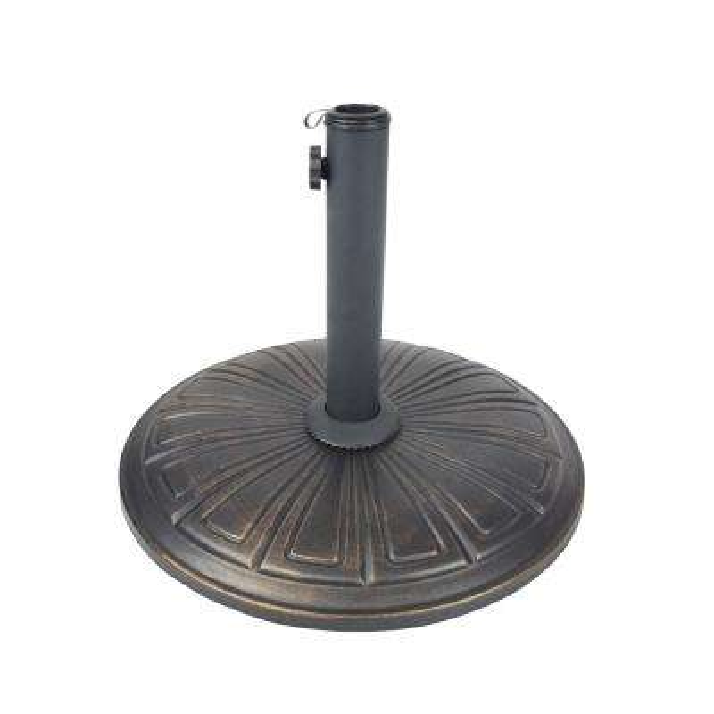 Cast Concrete Patio Umbrella Base in Black