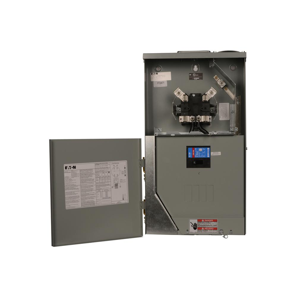 125 Amp 4-Space 8-Circuit Main Breaker Meter Breaker Panel
