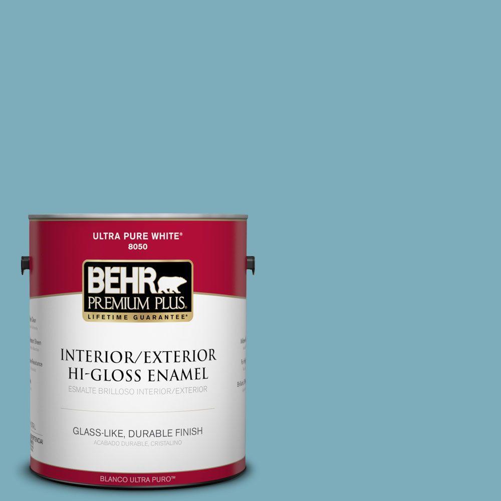 BEHR Premium Plus 1-gal. #520F-4 November Skies Hi-Gloss Enamel Interior/Exterior Paint