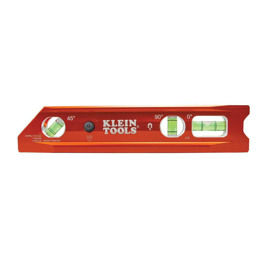 9 in. Lighted Rare Earth Magnet Torpedo Billet Level