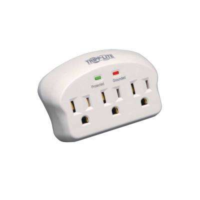 Power It 3-Outlet Surge Protector, Direct Plug-In, 660 Joules, 2 Diagnostic LEDs, White