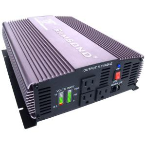 Ramsond Sunray 1500 Pure Sine Wave Intelligent DC to AC Inverter (12-Volt) by Ramsond