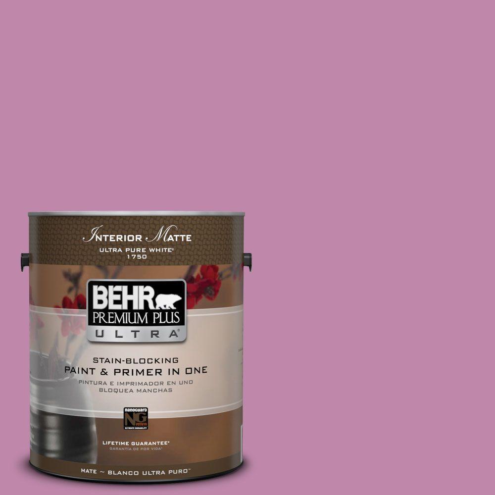 BEHR Premium Plus Ultra 1 gal. #M120-5 Rosy Matte Interior Paint