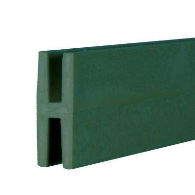 0.75 in. x 2 in. x 8 ft. Woodland Green Plastic Lattice Divider