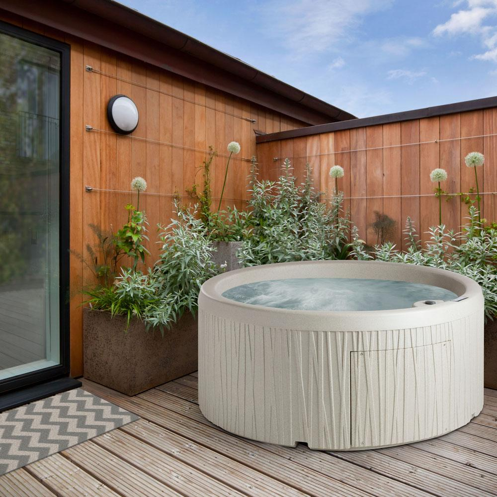 5-Person 9 Jet Plug in Hot Tub with Whirlpool