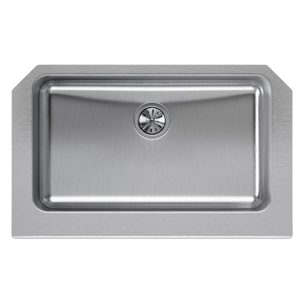 Elkay Lustertone Farmhouse Apron Front Stainless Steel (S...