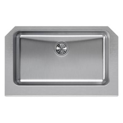 Lustertone Farmhouse Apron Front Stainless Steel 33 in. Single Bowl Kitchen Sink