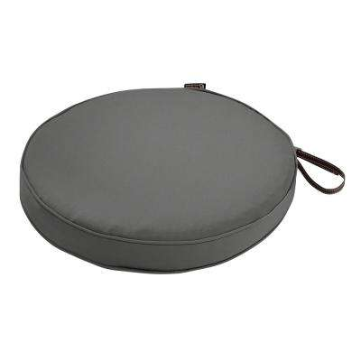Montlake Fade Safe Light Charcoal 15 in. Round Outdoor Seat Cushion