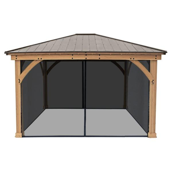 Mosquito Mesh Kit for 12 ft. x 14 ft. Meridian Gazebo