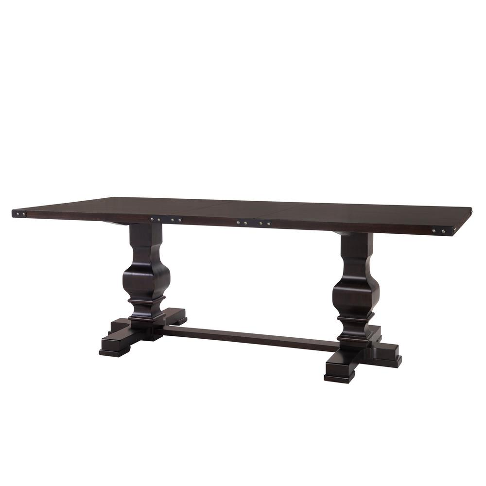 Palmer Espresso Double Pedestal Dining Table