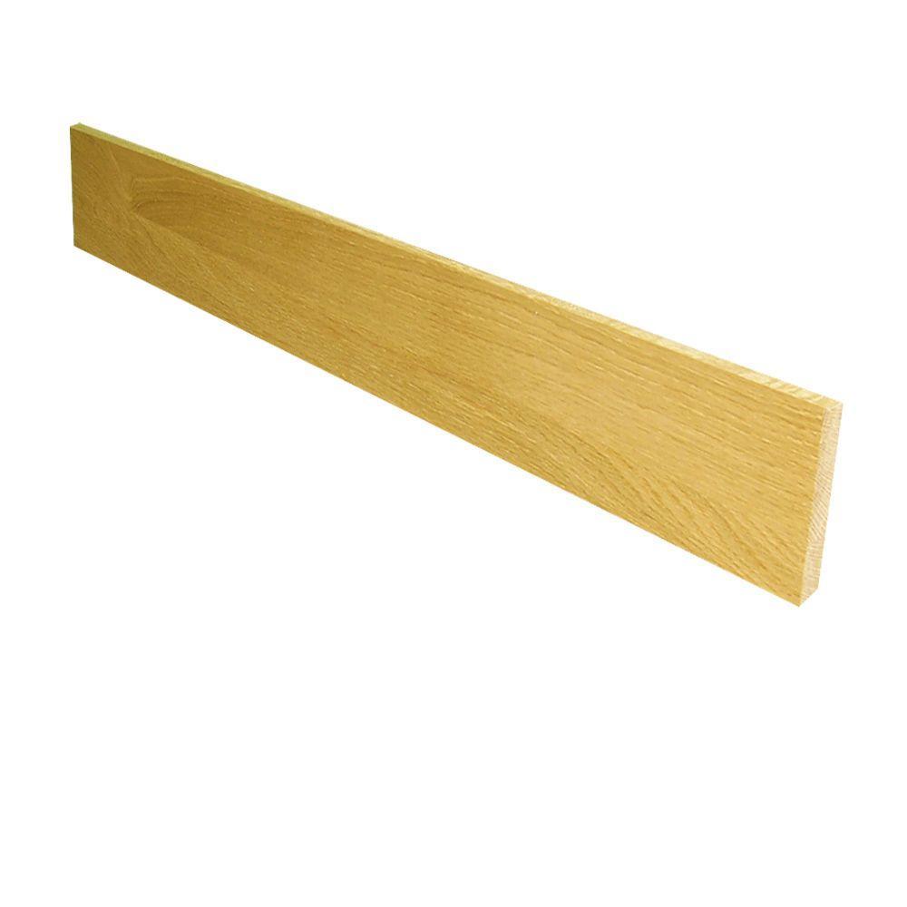 0.75 in. x 7.5 in. x 60 in. Prefinished White Oak Riser