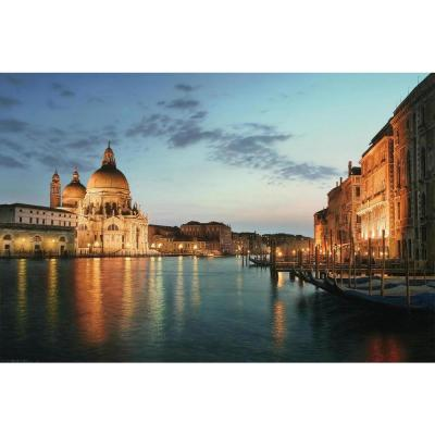15.75 in. x 23.5 in. LED Lighted Venice City Italy at Sunset Canvas Wall Art